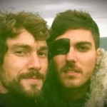 Marcos y Alberto durante la grabación del vídeo